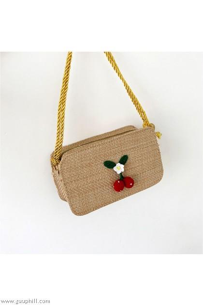 Cherry Sling Bag Brown KW 80399