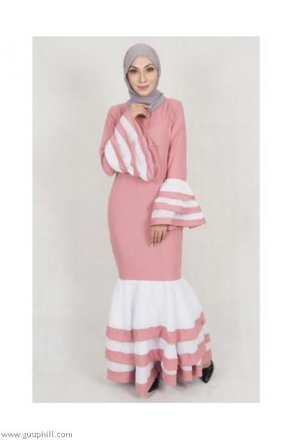 Fashion Mermaid Jubah Black