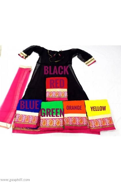 Semistich Punjabi Suit Material G72551