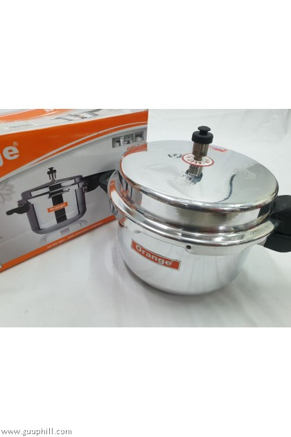 Orange Pressure Cooker Stainless Steel 5 Litre G15993