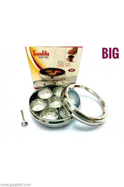 Kwality Silver Spice Set Big Size Box Belly G16212