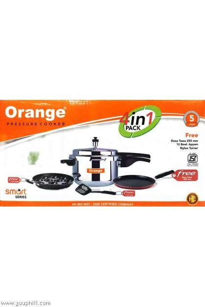 Orange Pressure Cooker + 3 free Gift G16236