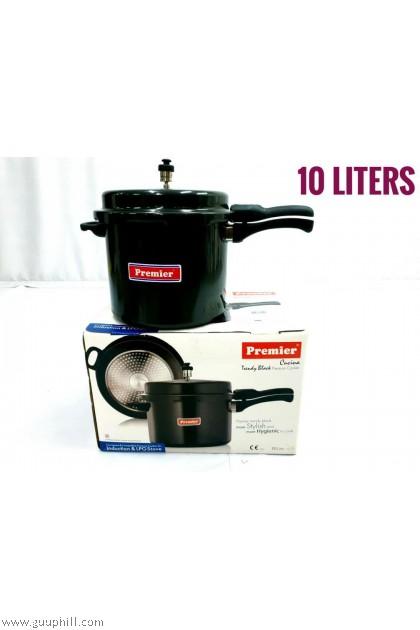 Premier Pressure Cooker Pure Black Trendy 10 Litre G16230