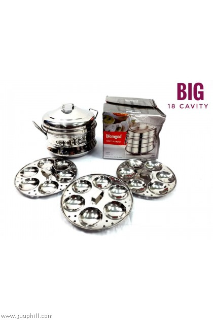 Diamond Idly Cooker Pot Stainless Steel Big G17114