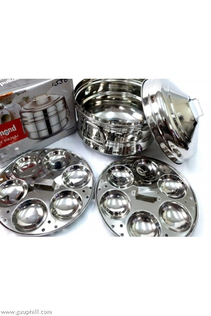 Diamond Idly Cooker Pot Stainless Steel Medium G17116