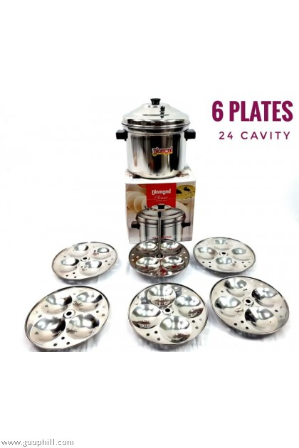 Diamond Idly Cooker Pot Stainless Steel Classic Jointless 24 Cavity G17108