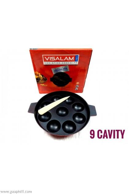 Visalam Non Stick Paniyaram Ball Pan 9 kuzhi G17120