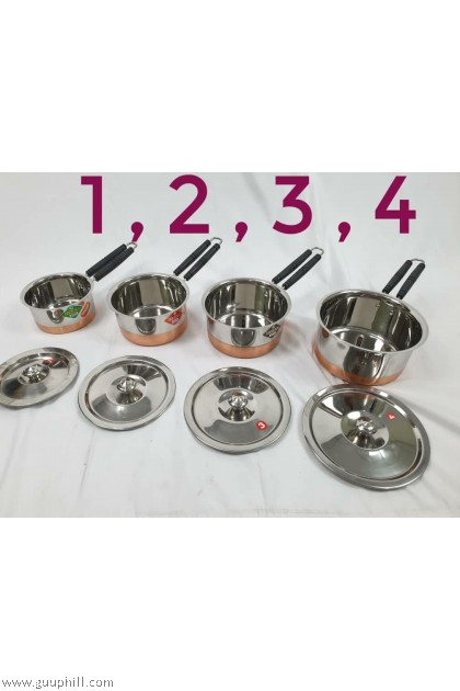 Saucepan Stainless Steel  With Copper Bottom and Lid G17053