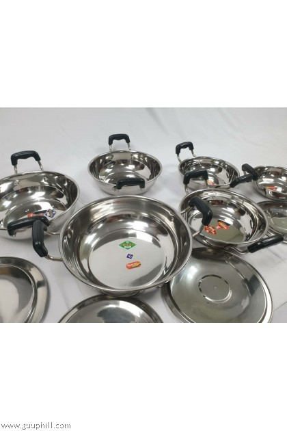 Henna Stock Pot Food/ Curry Containers With Handle G17061