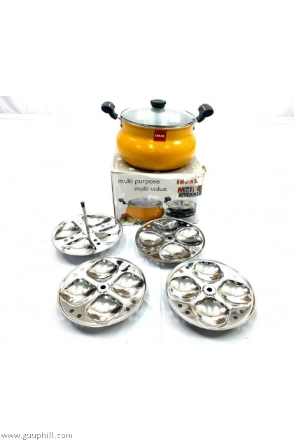 Ideal Stainless Silver Multi Purpose Cooking Pot G17216