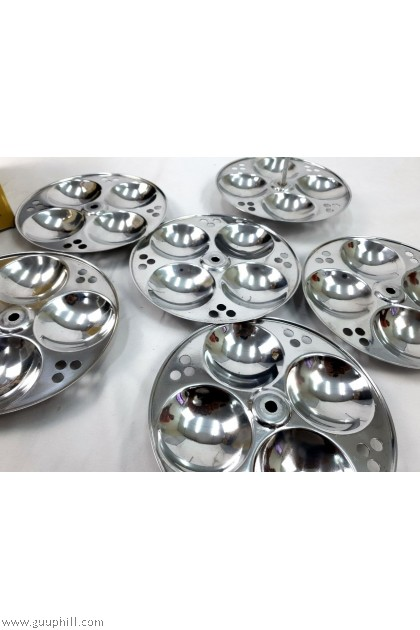 Ideal Stainless Silver Idly 6 Trays Only G17312