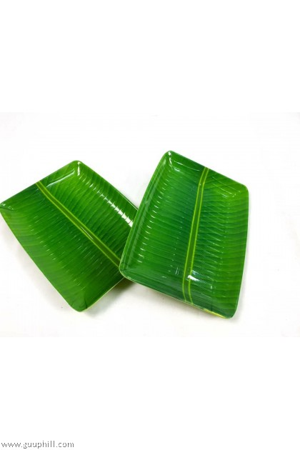 Plastic Banana Leaf Plate 2 Pcs G17333