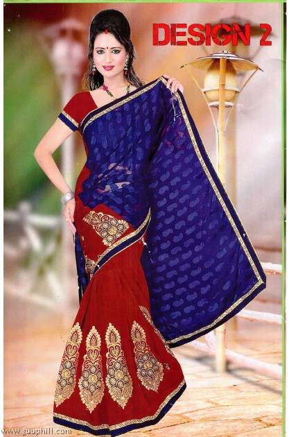 Chiffon Embroidery Saree G14903